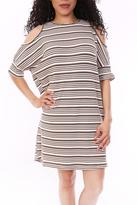 She + Sky Olive Stripe Dress