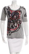 Balmain Graffiti Scoop Neck T-Shirt