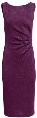 St. John Evening Milano Knit Lurex Sheath Dress