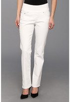 Jag Jeans Petite Petite Peri Pull-On Straight Jean in White