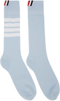 Thom Browne Blue 4-Bar Mid-Calf Socks