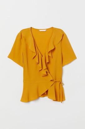 H&M Crepe wrapover blouse