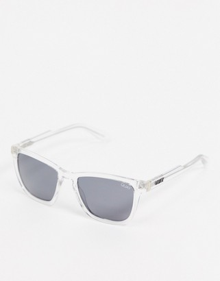 Quay Hardwire sunglasses in clear frame