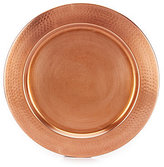Southern Living Copper Charger Plate with Hammered Rim