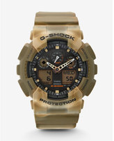 Express g-shock extra large brown camo watch