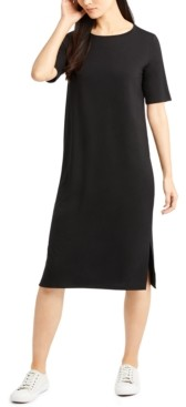 Eileen Fisher System Round-Neck Shift Dress, Regular & Petite Sizes