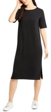 Eileen Fisher System Round-Neck Shift Dress