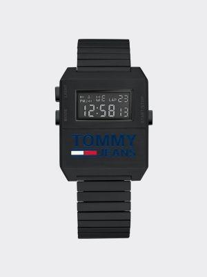 Tommy Hilfiger Digital Stainless Steel Black Watch