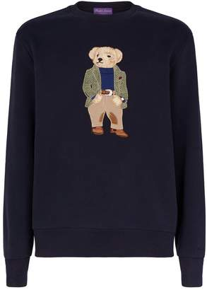 Ralph Lauren Purple Label Polo Bear Embroidery Sweatshirt