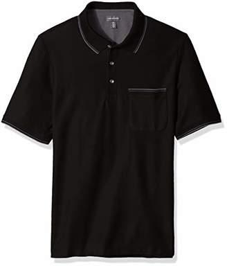 Van Heusen Men's Size Big and Tall Never Tuck Slub Short Sleeve Polo
