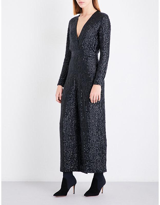 Temperley London Tiara wide-leg sequinned jumpsuit