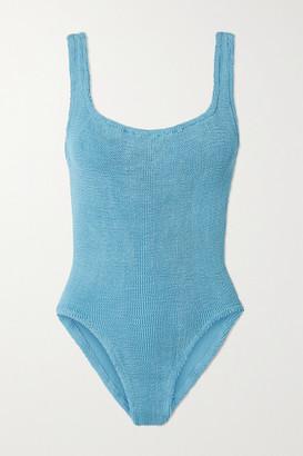 Hunza G Net Sustain Seersucker Swimsuit - Blue