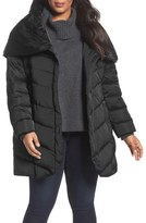 Tahari Matilda Shawl Collar Quilted Coat (Plus Size)