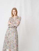 Maje Floral-print long asymmetric dress