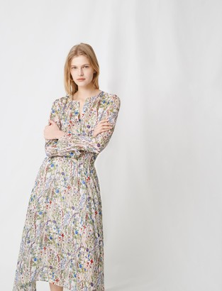 Maje Floral print long asymetrical dress