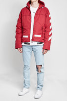 Off-White Down Jacket with Hood