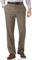 Perry Ellis Portfolio Classic Fit Sharkskin Flat Front Dress Pants