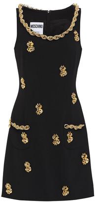 Moschino Embellished Stretch-cady Mini Dress