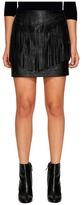BB Dakota Cooley Faux Leather Fringe Skirt Women's Skirt