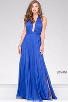 Jovani Halter Neck Chiffon Prom Dress 48797