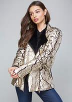 Bebe Kasey Crushed Foil Jacket
