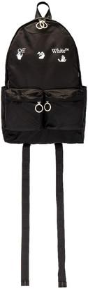 Off-White Logo Backpack in Black   FWRD