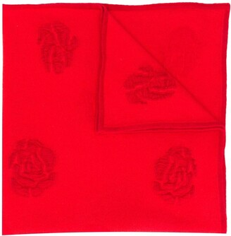 Barrie Roses intarsia scarf