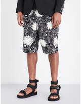 Junya Watanabe Floral-patterned Relaxed-fit Woven Shorts