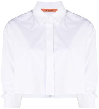 Andamane Cropped Button-Front Shirt