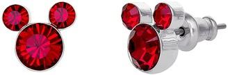 Disney Disneys Mickey Mouse Birthstone Crystal Stud Earrings