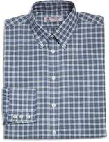Turnbull & Asser Windowpane Check Regular Fit Dress Shirt