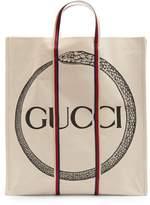 Gucci Ouroboros-print cotton tote bag