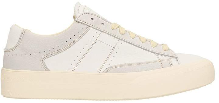 Maison Margiela White Leather Patchwork Sneakers