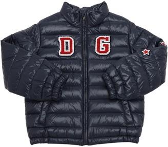 Dolce & Gabbana NYLON DOWN JACKET W/ PATCH