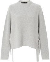 Proenza Schouler Cashmere Wool Side Tie Sweater