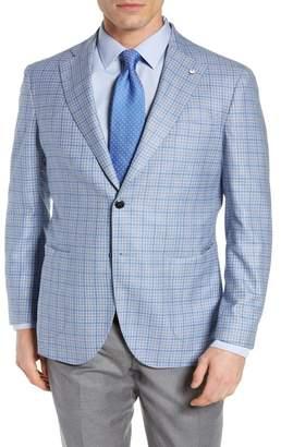 Lubiam Trim Fit Check Wool Sport Coat