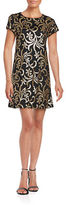 Jessica Simpson Sequined Floral Shift Dress