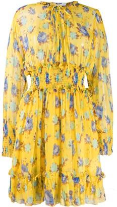 MSGM Floral Short Dress