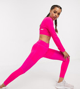 Asos 4505 Petite exclusive high waisted legging with fine mesh insert