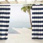 west elm Outdoor Stripe Curtains - Navy
