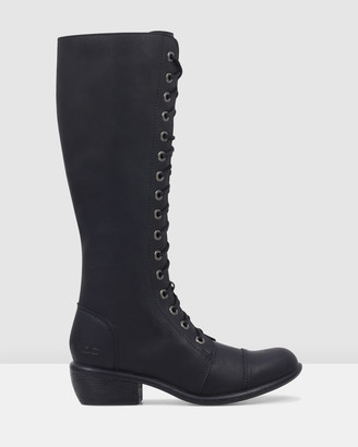 ROC Boots Australia - Women's Black Lace-up Boots - Terrain Vegan - Size One Size, 7 at The Iconic