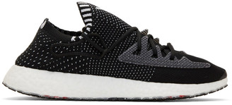 Y-3 Black and White Raito Racer Sneakers