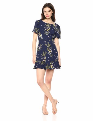BB Dakota Women's Weekend Feels Printed CDC Dress