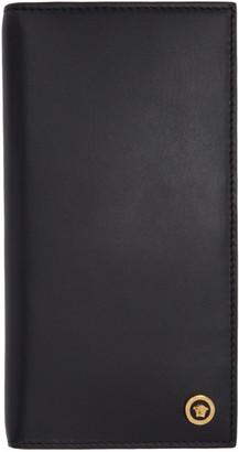 Versace Black Icon Long Wallet