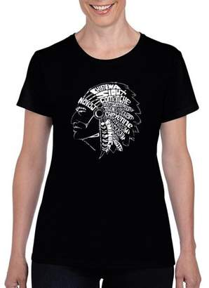 Los Angeles Pop Art Women's POPULAR NATIVE AMERICAN INDIAN TRIBES T-Shirt