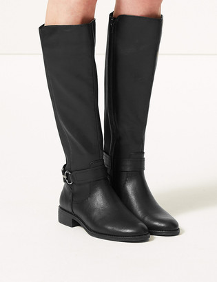 Marks and Spencer Elastic Block Heel Knee High Boots