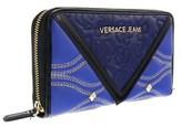 Versace Ee3vobpk2 Emaf Blue/black Multifunction Wallet.