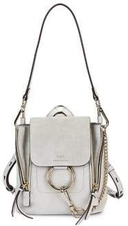Chloé Faye Mini Leather& Suede Backpack