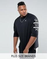 Jordan Nike Plus 6 Times Raglan T-Shirt In Black 862423-010
