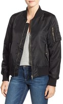 Steve Madden Women's Side Zip Bomber Jacket